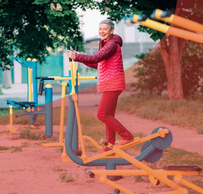 maquinas para gente mayor en el parque