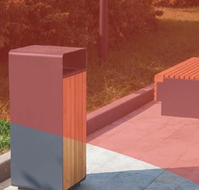 Papelera mobiliario urbano